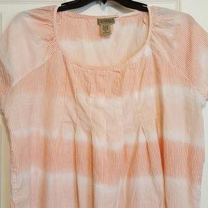 Orange and White cotton top.